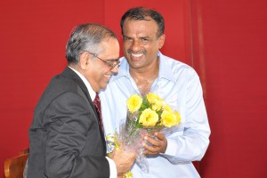 Manjunath Bhandary and Dr Shantharam shetty