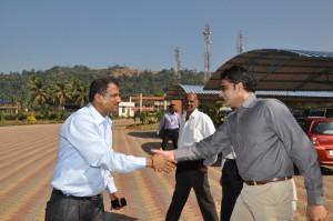Manjunath Bhandary and Anil Kumble